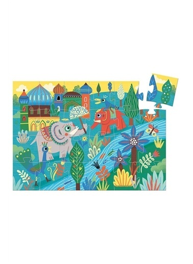 Djeco Djeco Dekoratif Puzzle 24 Parça/Fil Pembe